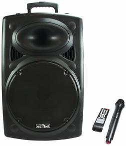 "BEFREE SOUND 15"" 900W BLUETOOTH PORTABLE PA DJ PARTY SPEAKER"
