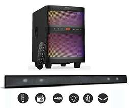 "LuguLake 2.1 TV Sound Bar Speaker System with 8"" Subwoofer B"