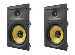 """2 Pack TDX 8"""" 2-Way In Wall Home Theater Surround Sound Spea"""