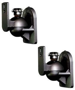 2 Pack Adjustable Surround Sound Satellite Speaker Brackets