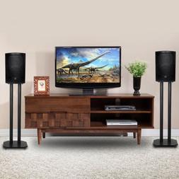 "24"" Premium Surround Sound Book Shelf Speaker Stand W/Non-Sl"