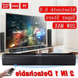 2PCS 20W Wireless bluetooth Soundbar Stereo Speakers <font><