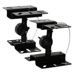 2x Adjustable Surround Sound Heavy Duty Steel Speaker Wall C