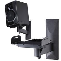 2x Tilt Side Clamp Speaker Wall Mount Bracket Surround Sound
