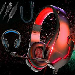 3.5mm Gaming Headset Headphones LED MIC Surround Sound Wired