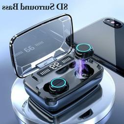3300mAh Headsets TWS Mini Earphones LED Touch Wireless Bluet