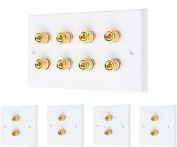 4.0 Speaker Wall Face Plate Complete Audio Surround Sound ki