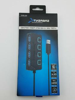 Sabrent 4-Port USB 3.0 Hub with Individual Power Switches an