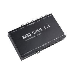 5.1 Audio Gear <font><b>2</b></font> in 1 5.1 Channel AC3/DT