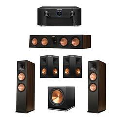 Klipsch 5.1 Walnut System with 2 RP-280F Tower Speakers, 1 R