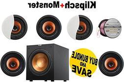"5 Klipsch CDT-3650-C II 6.5"" In-Ceiling Speaker + Klipsch R-"