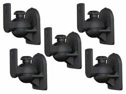 5 PC Pack Universal Adjustable Surround Sound Satellite Spea