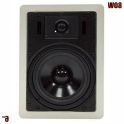 "6"" 2-Way 80W In Ceiling In-Wall Audio Speaker Surround Sound"