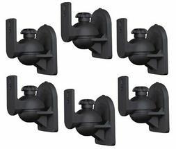 6 PC Pack Universal Adjustable Surround Sound Satellite Spea