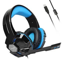 7.1 Surround Sound Gaming Headphones Headset w/ Microphone f