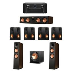 Klipsch 7.1 Walnut System with 2 RP-280F Tower Speakers, 1 R