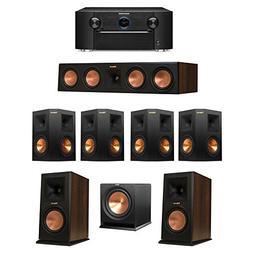 Klipsch 7.1 Walnut System with 2 RP-160M Monitor Speakers, 1