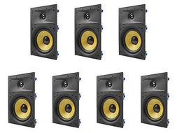 """7 Pack - TDX 8"""" 2-Way In Wall Home Theater Surround Sound Sp"""