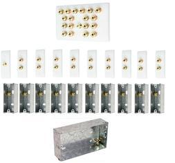 9.1 Surround Sound Audio AV Speaker Wall Face Plate Kit - NO