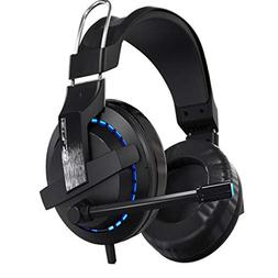 Headset Cable Game Headset with Microphone Voice Light Doubl