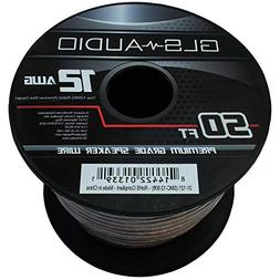GLS Audio Premium 12 Gauge 50 Feet Speaker Wire - True 12AWG