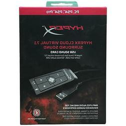 HyperX - Cloud Virtual 7.1 USB External Sound Card plus clot