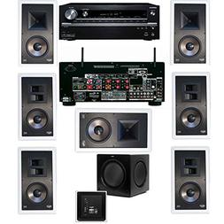 Klipsch KL-7800-THX 7.1 In-Wall-Rear Ceiling-SW-310-Onkyo TX