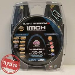 Monster Black Platinum Ultra HD High Speed HDMI Cable with E