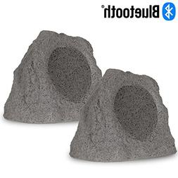Theater Solutions RK8GBT Powered Bluetooth Outdoor Granite G