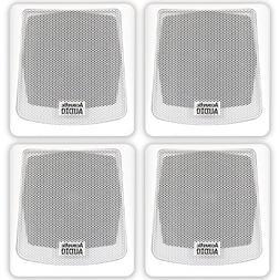Acoustic Audio AA051W Mountable Indoor or Outdoor Speakers W
