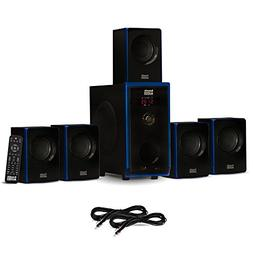 Acoustic Audio AA5102 Bluetooth 5.1 Speaker System with 2 Ex