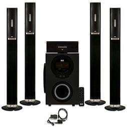 Acoustic Audio AAT3002 Tower 5.1 Home Theater Bluetooth Spea