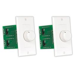 Acoustic Audio AAVCDW 300 Watt White Dial Speaker Volume Con