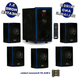 Acoustic Audio AA5102 Home Theater 5.1 Speaker System with 4