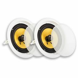 Acoustic Audio HD-8 In Ceiling 8 Speakers Home Theater Surro