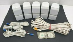 Bose Acoustimass Surround Speakers - White - LOT of 5 With S