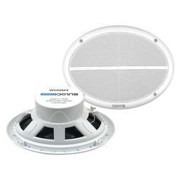 Lanzar 6x9 Inch Marine Speakers - 2 Way Water Resistant Audi
