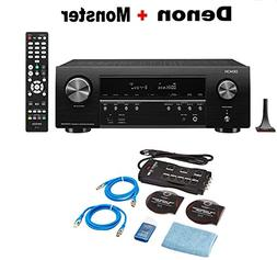 Denon AV Receivers Audio & Video Component Receiver Black  +