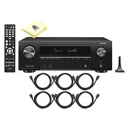 Denon AVR-X1500H Integrated Network AV Receiver Package with