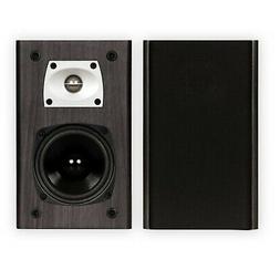 Theater Solutions B1 Black Bookshelf Speakers Surround Sound