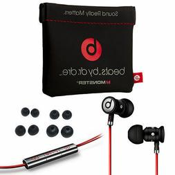 BLACK / SILVER urBeats by Dr Dre Earbuds with Mic In-Ear Bea