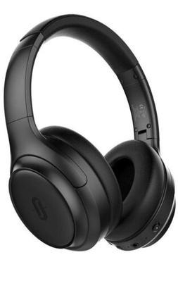 blue bluetooth headphones soundsurge 60 over ear