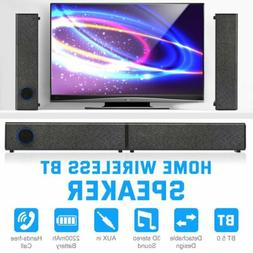 Bluetooth 5.0 3D Surround Sound Bar Wireless TV Home Theater