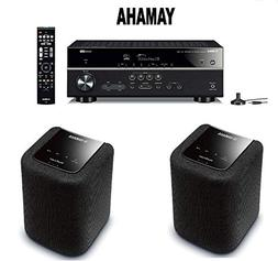 Yamaha Bluetooth Audio & Video Component Receiver Black  + P