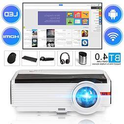 Smart Bluetooth HD Wireless Projector 4200 Lumen 2018 Androi