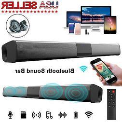 Bluetooth Soundbar TV Home Speaker System Wireless Subwoofer