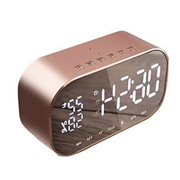 Bluetooth Speaker Wireless with Digital Alarm Clock Large LE