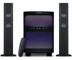 LuguLake BT Sound bar Speaker System with Subwoofer, LED Lig