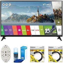 "LG 49"" Class Full HD 1080p Smart LED TV 2017 Model  with 2 x"