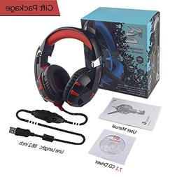 Computer Gaming Headset, 7.1 Surround Stereo Sound USB Compu